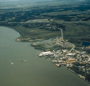 Aireal view of Dillingham, Alaska